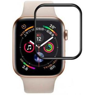 Защитное стекло для Apple Watch series 4 44 mm (Baseus Full-screen Curved Tempered Film SGAPWA4-B01) (черный)