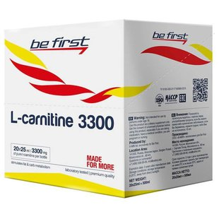 Be First L-карнитин 3300 (20 шт.) (25 мл)